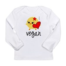 veganhart2.png Long Sleeve Infant T-Shirt