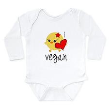 veganhart2.png Long Sleeve Infant Bodysuit