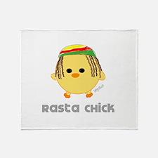 rastachick2.png Throw Blanket