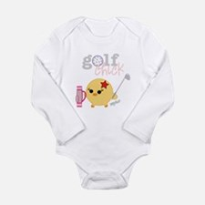 2-golfCHICK3.png Long Sleeve Infant Bodysuit