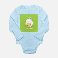 Egg Chick Long Sleeve Infant Bodysuit