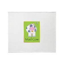 madcowtoo.gif Throw Blanket