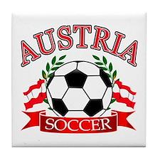 Austria Soccer Designs Tile Coaster