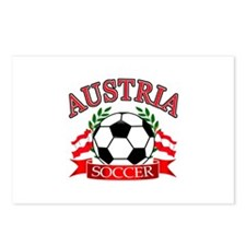 Austria Soccer Designs Postcards (Package of 8)