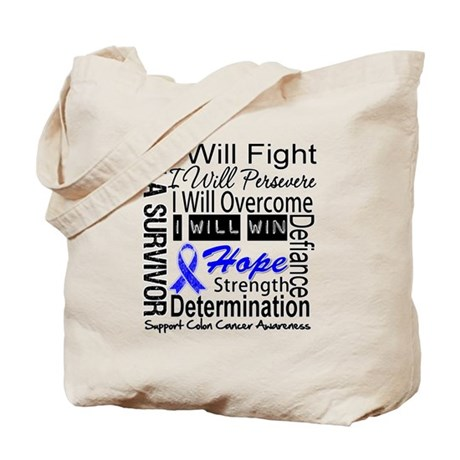 Colon Cancer Persevere Tote Bag