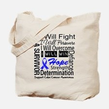 Colon Cancer Persevere Tote Bag