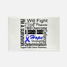 Colon Cancer Persevere Rectangle Magnet