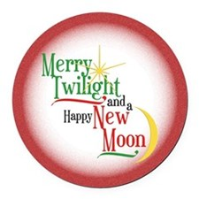 Twilight New Moon Christmas Round Car Magnet