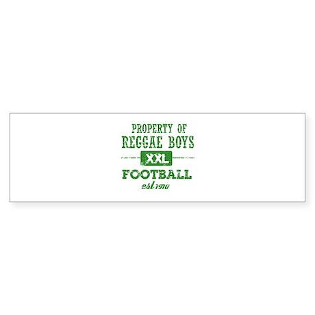 Property of Reggae Soccer Sticker (Bumper)