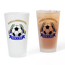 Bosnia Herzegovina Soccer Designs Drinking Glass