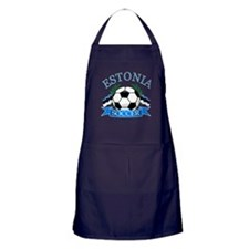 Estonia Soccer Designs Apron (dark)