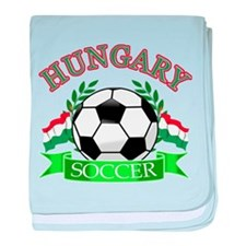 Hungary Soccer Designs baby blanket