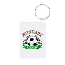 Hungary Soccer Designs Aluminum Photo Keychain