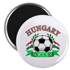 """Hungary Soccer Designs 2.25"""" Magnet (10 pack)"""