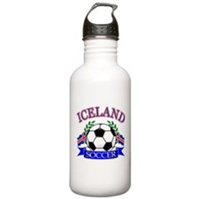 Iceland Soccer Designs Water Bottle