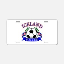 Iceland Soccer Designs Aluminum License Plate
