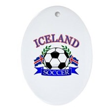 Iceland Soccer Designs Ornament (Oval)