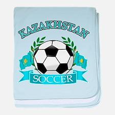 Kazakhstan Soccer Designs baby blanket
