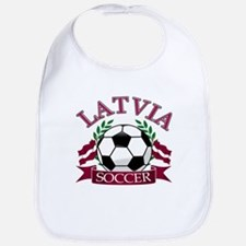 Latvia Soccer Designs Bib