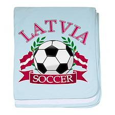 Latvia Soccer Designs baby blanket