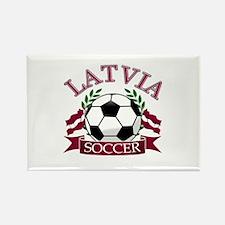 Latvia Soccer Designs Rectangle Magnet