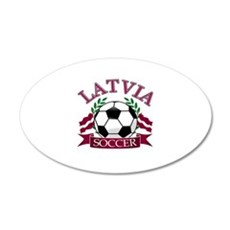 Latvia Soccer Designs Wall Sticker
