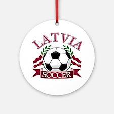 Latvia Soccer Designs Ornament (Round)