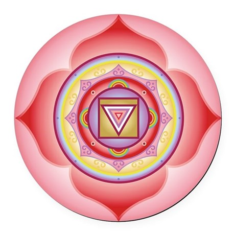 "Root Chakra Round 5.5"" Large Magnet"