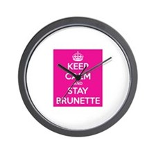 Keep Calm and Stay Brunette Wall Clock