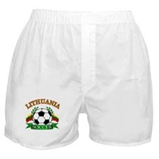 Lithuania Soccer Designs Boxer Shorts