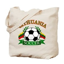 Lithuania Soccer Designs Tote Bag
