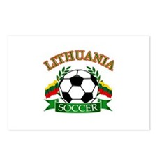 Lithuania Soccer Designs Postcards (Package of 8)