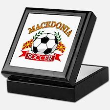Macedonia Soccer Designs Keepsake Box