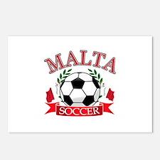 Malta Soccer Designs Postcards (Package of 8)