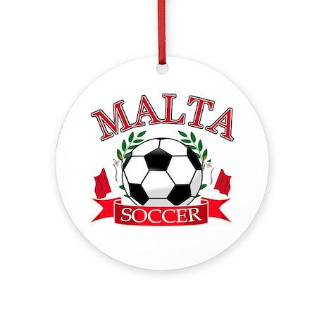 Malta Soccer Designs Ornament (Round)