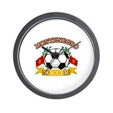 Montenegro Soccer Designs Wall Clock