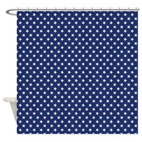 White Stars Shower Curtain By Expressivemind