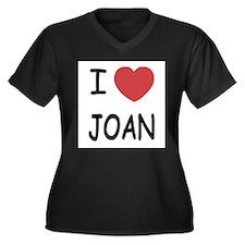 Cute Jett Women's Plus Size V-Neck Dark T-Shirt