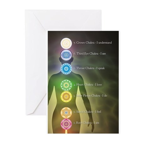 Chakra Energy Centers Greeting Cards (Pk of 20)