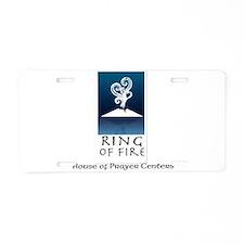 Ring of Fire Logo Aluminum License Plate