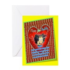 I Love You Daddy, Poetic Greeting Card: Mix Media