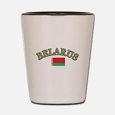 Belarus Soccer Designs Shot Glass