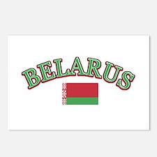 Belarus Soccer Designs Postcards (Package of 8)