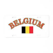 Belgium Soccer Designs Aluminum License Plate