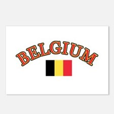 Belgium Soccer Designs Postcards (Package of 8)