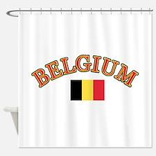 Belgium Soccer Designs Shower Curtain