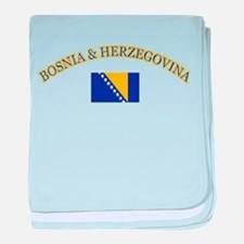 Bosnia Herzegovina Soccer Designs baby blanket