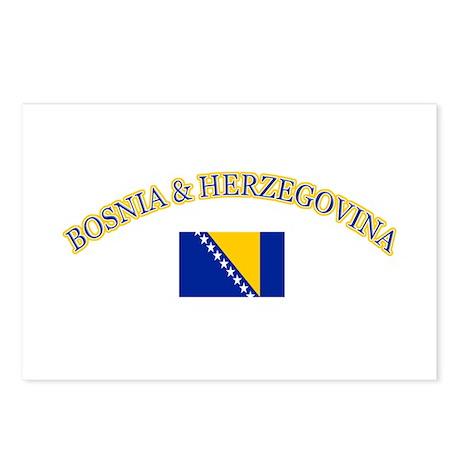 Bosnia Herzegovina Soccer Designs Postcards (Packa