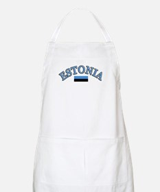 Estonia Soccer Designs Apron