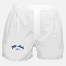 Finland Soccer Designs Boxer Shorts